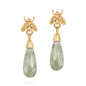 Briolette Little Fly Earrings - Joy Everley Fine Jewellers, London