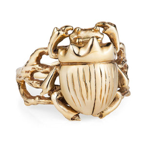 Gold Little Scarab Ring - Joy Everley Fine Jewellers, London