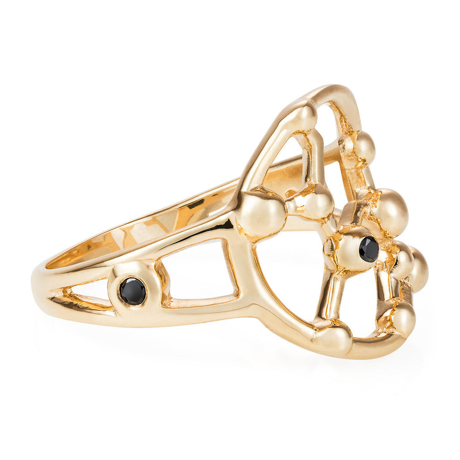 Gold Sagittarius Astrology Ring - Joy Everley Fine Jewellers, London