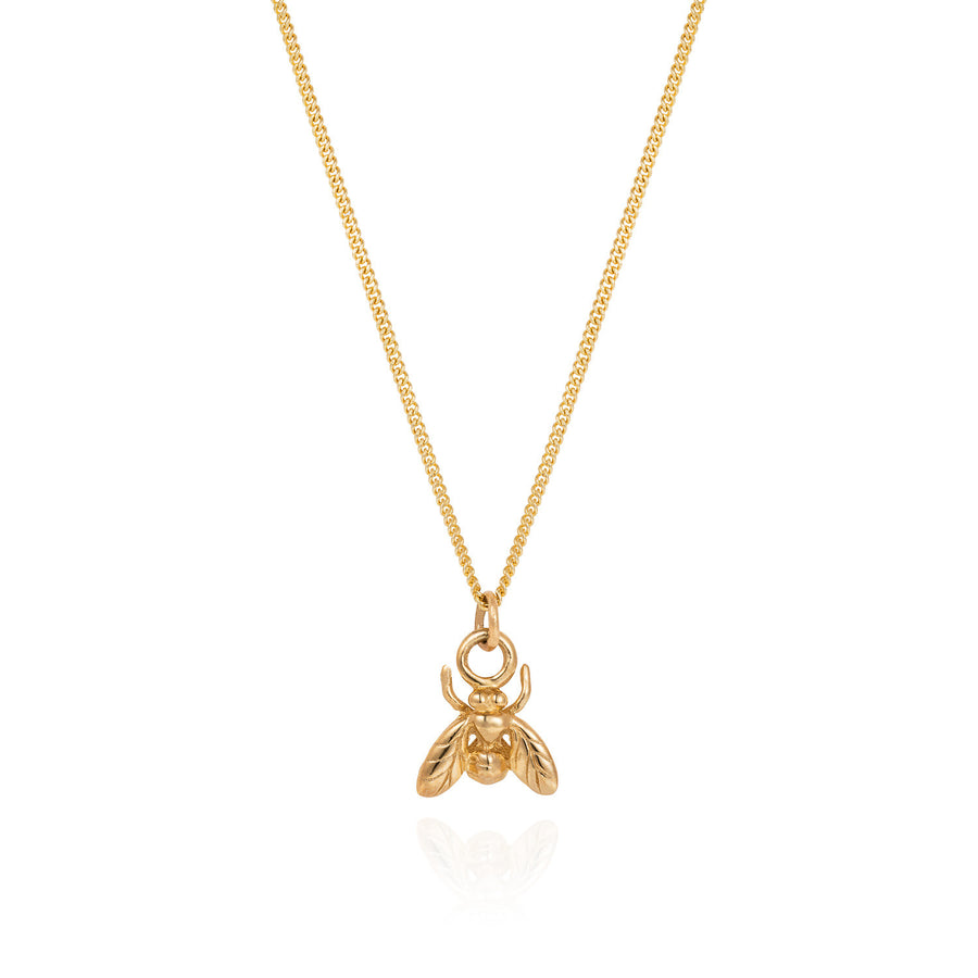 Gold Little Fly Necklace - Joy Everley Fine Jewellers, London