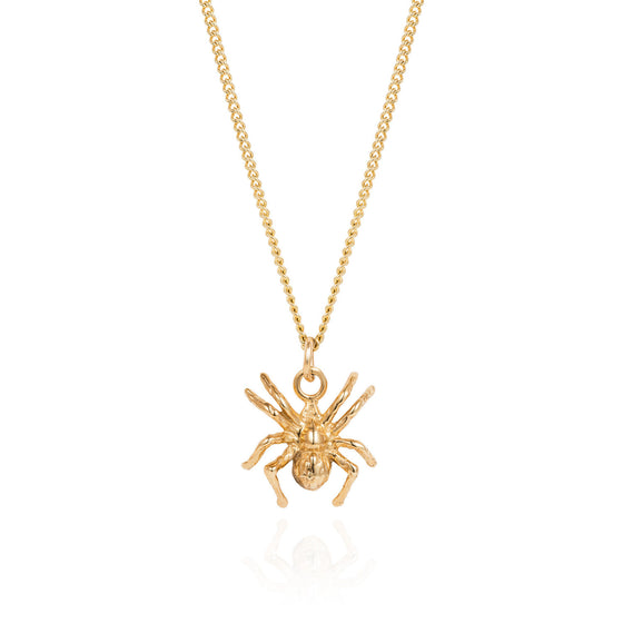 Gold Little Spider Necklace