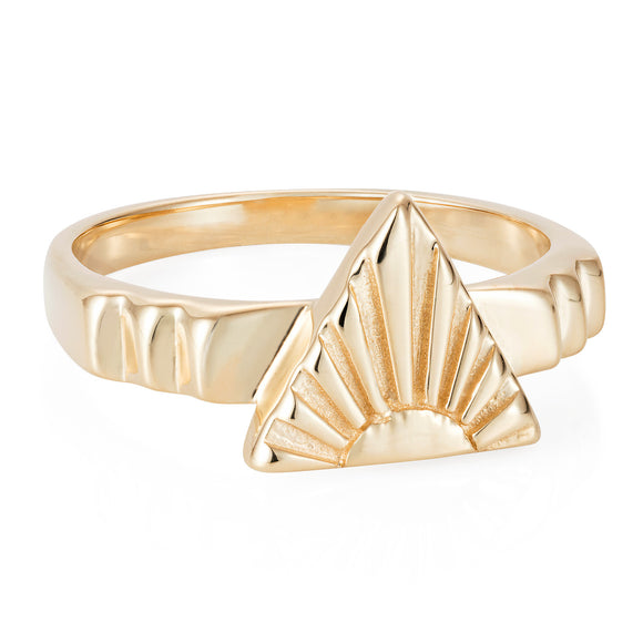 Gold Ray A Ring