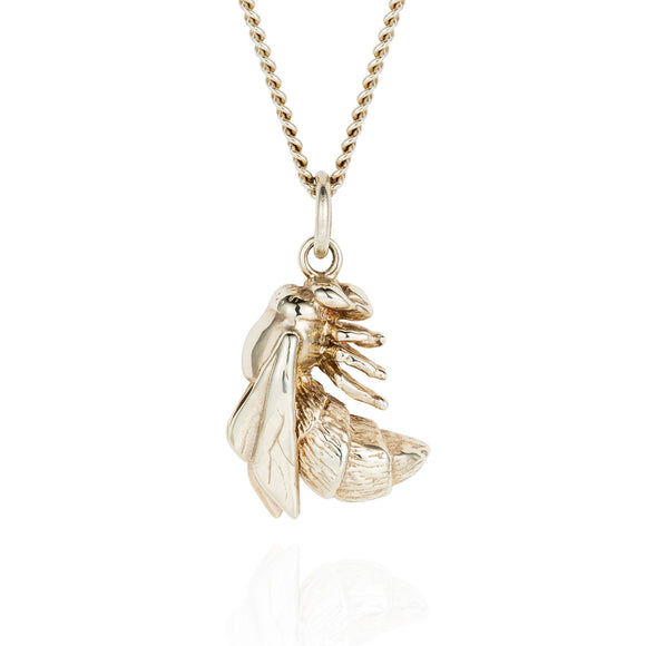 White Gold Bee Necklace - Joy Everley Fine Jewellers, London