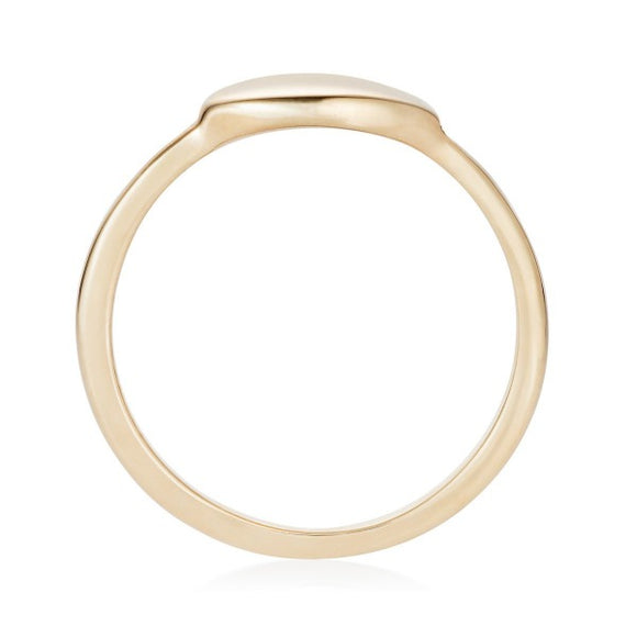 Solid Gold Pebble Signet Ring by Joy Everley