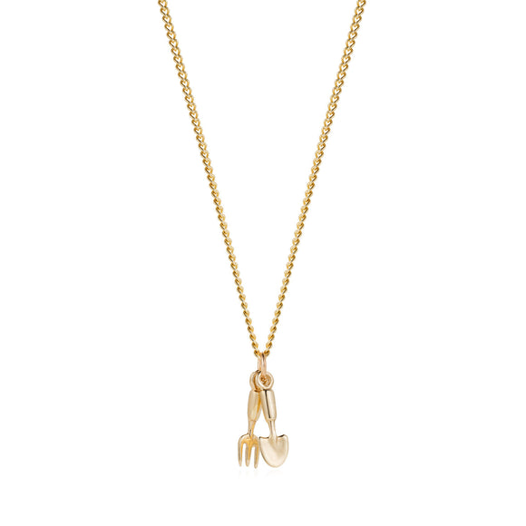 Gold Fork & Trowel Necklace