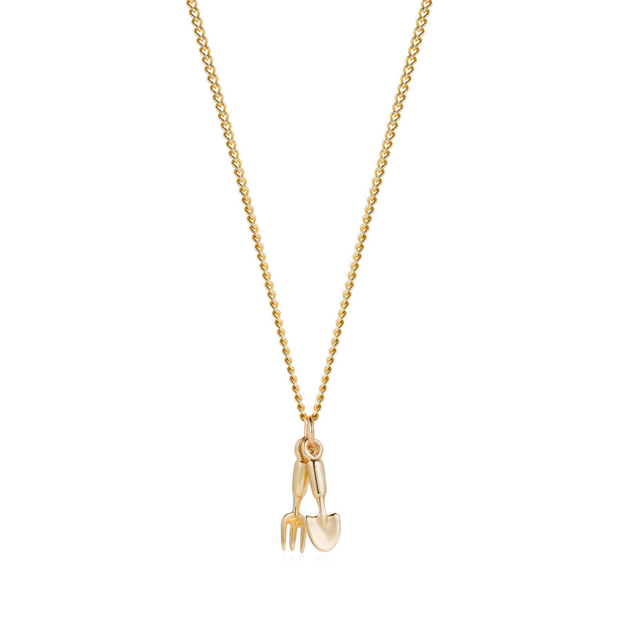 Solid Gold Fork & Trowel Necklace by Joy Everley