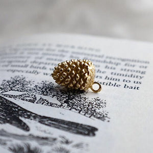 Gold Pinecone Charm - Joy Everley Fine Jewellers, London