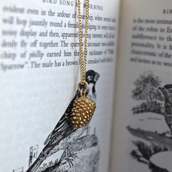 Gold Pinecone Necklace - Joy Everley Fine Jewellers, London