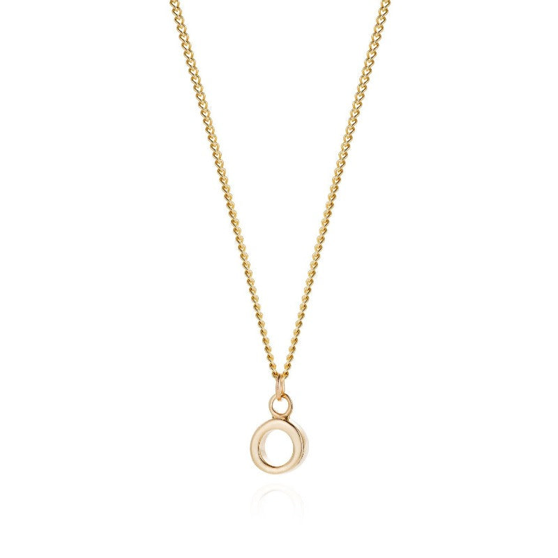 Yellow Gold Simple Circle Necklace - Joy Everley Fine Jewellers ...