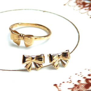 Gold Bow Ring - Joy Everley Fine Jewellers, London