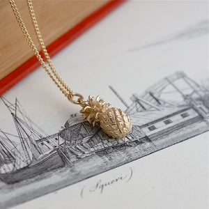 Gold Pineapple Necklace by Joy Everley