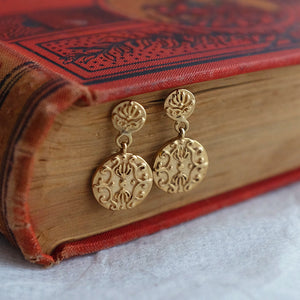 Solid gold baroque drop earrings by Joy Everley Fine Jewellers