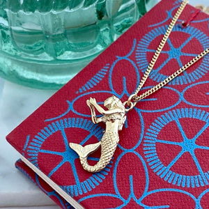 Solid Gold Mermaid Necklace by Joy Everley
