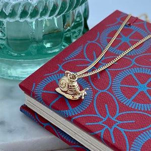 Gold Snail Necklace by Joy Everley