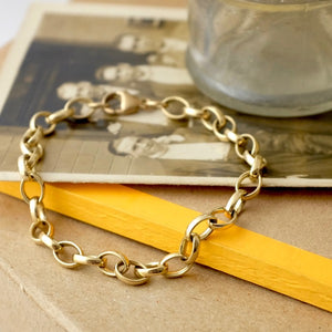 Solid Gold Chain Bracelet by Joy Everley