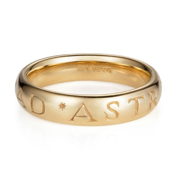 Latin Yellow Gold Ad Astra Ring