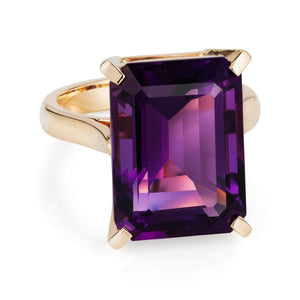 Large Amethyst Cocktail Ring - Joy Everley Fine Jewellers, London