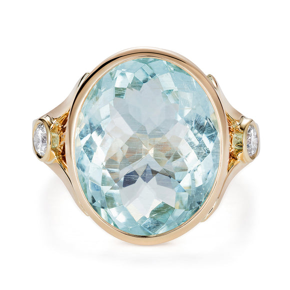 Aquamarine Cocktail Ring by Joy Everley