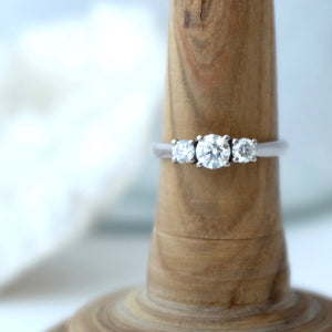 Fairtrade Diamond Trilogy Ring by Joy Everley