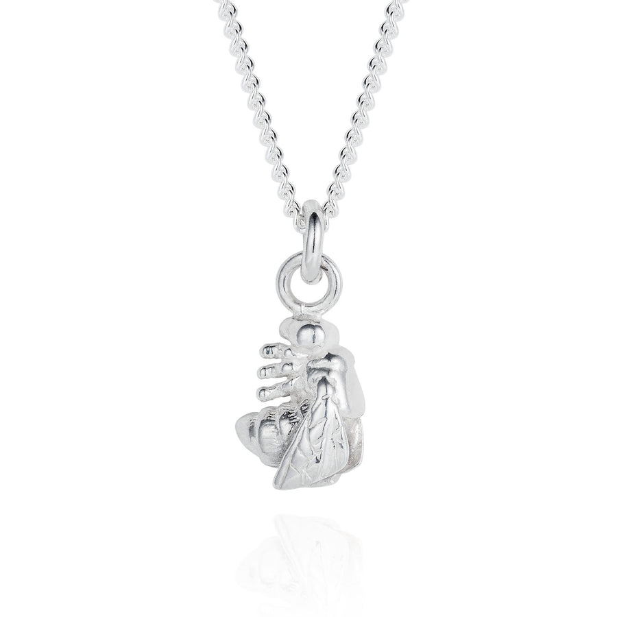Tiny Silver Bee Necklace - Joy Everley Fine Jewellers, London