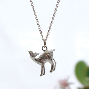 Silver Fawn Necklace - Joy Everley Fine Jewellers, London