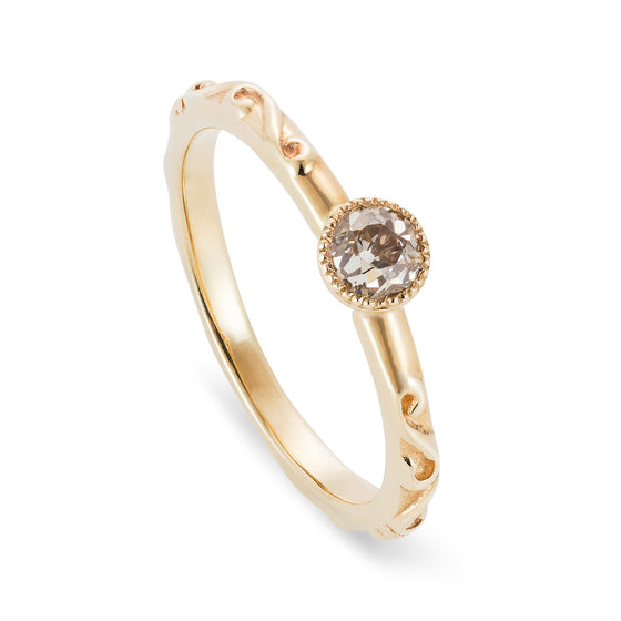 Sustainable Baroque Diamond Engagement Ring