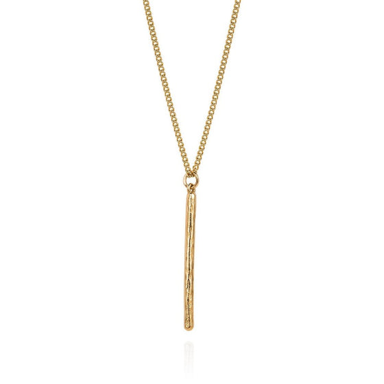 Gold Long Birch Necklace