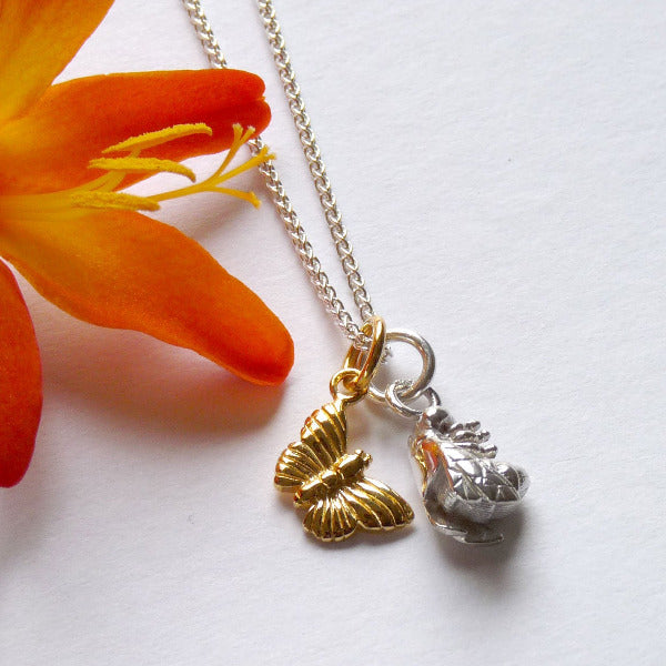 The Butterfly & The Bee Necklace