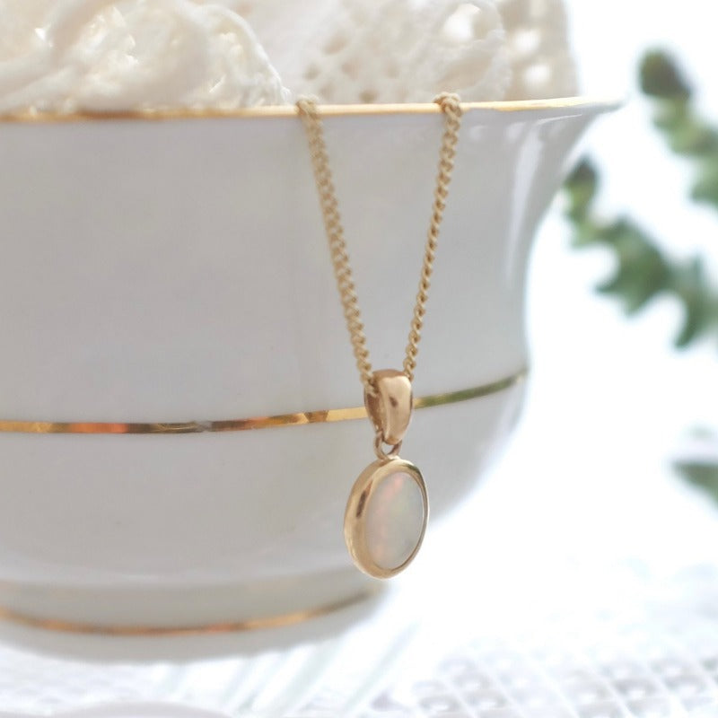 Bespoke Opal and Gold Necklace