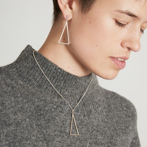 Triangular Birch Silver Necklace by Joy Everley