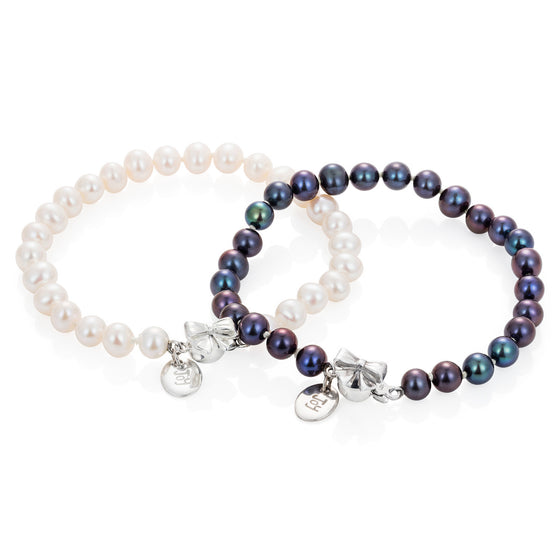 Pearl Bow Bracelet - Joy Everley Fine Jewellers, London