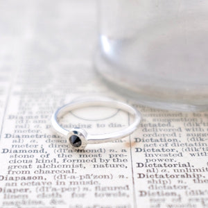 Black Diamond Silver Ring by Joy Everley