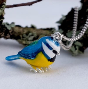 Blue Tit Silver Necklace by Joy Everley