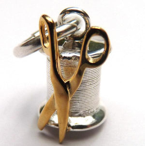 Silk Bobbin Charm - Joy Everley Fine Jewellers, London