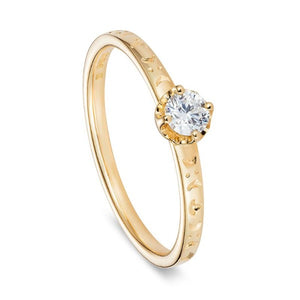 Queen Boudica, 18 carat Yellow Gold Fairtrade Engagement Ring