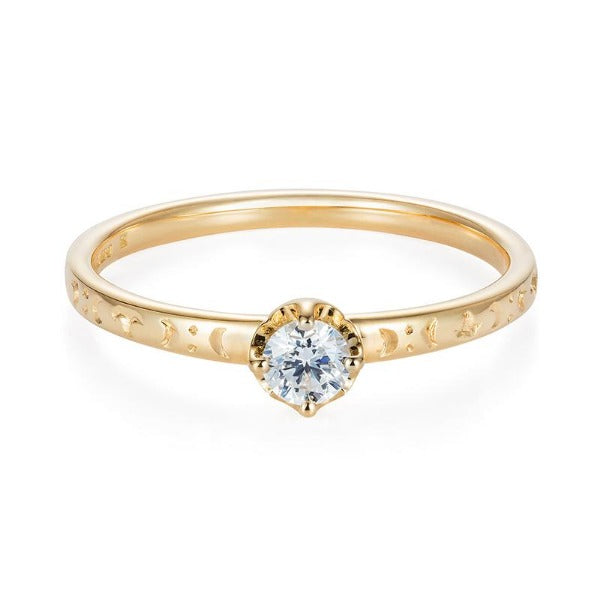 Queen Boudica, Fairtrade 18 carat Yellow Gold Engagement Ring