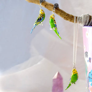 Budgie Earrings and Necklace set