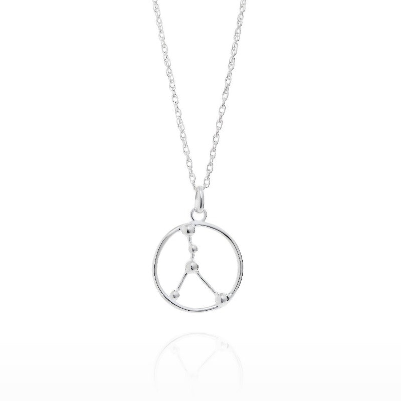 Cancer Astrology Silver Necklace by Yasmin Everley