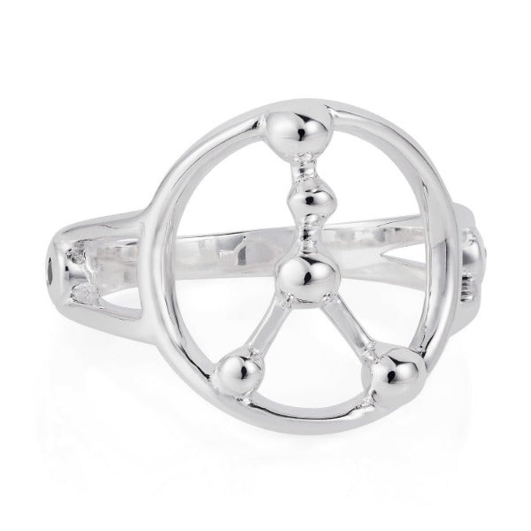 Cancer Astrology Silver Ring by Yasmin Everley