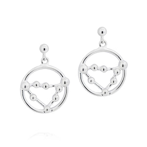 Capricorn Astrology Drop Studs - Joy Everley Fine Jewellers, London