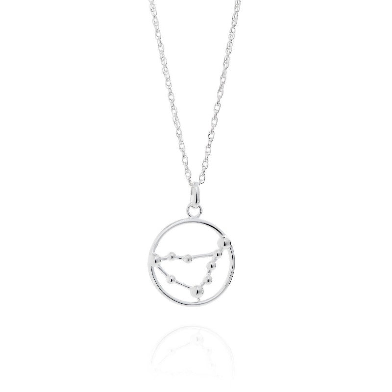 Capricorn Astrology Silver Necklace by Yasmin Everley