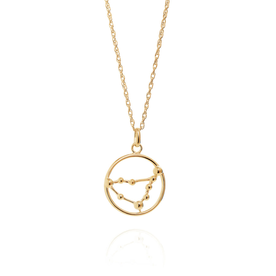 Solid Gold Capricorn Astrology Necklace by Yasmin Everley