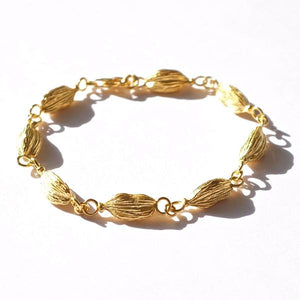 Cardamom Pod Silver Bracelet by Joy Everley