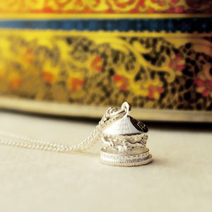Silver Carousel Necklace by Joy Everley