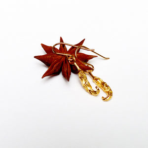 Vermeil Chilli Earrings - Joy Everley Fine Jewellers, London