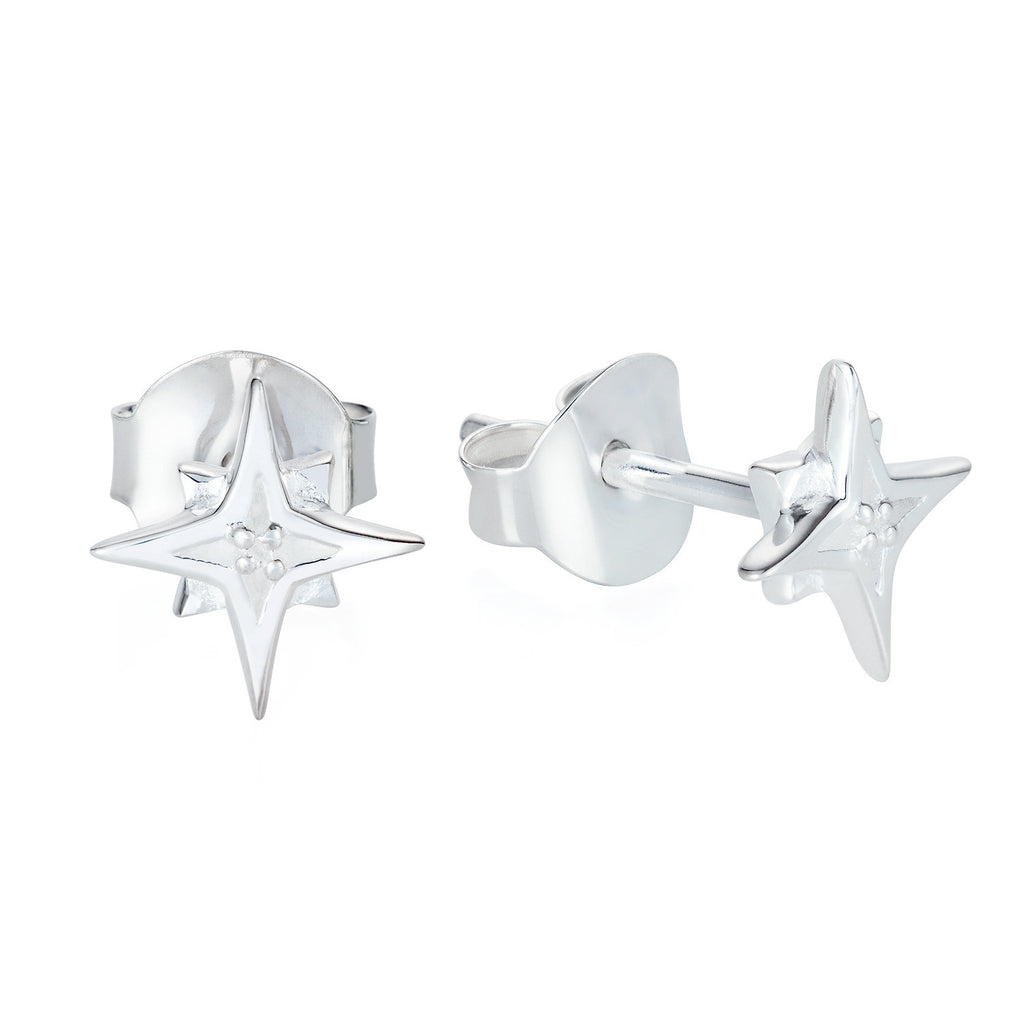 Compass Star Stud Earrings - Joy Everley Fine Jewellers, London