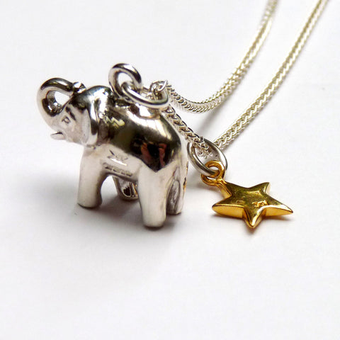 Elephant & Star Necklace