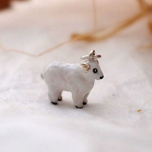 Enamel Woolly Sheep Charm - Joy Everley Fine Jewellers, London