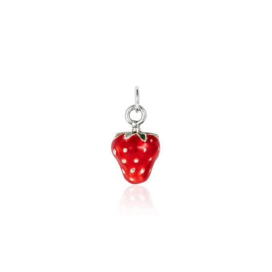 Small Enamel Strawberry Charm - Joy Everley Fine Jewellers, London