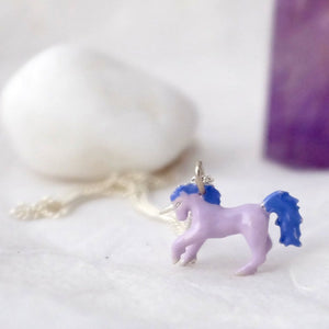 Enamel Unicorn Necklace - Joy Everley Fine Jewellers, London